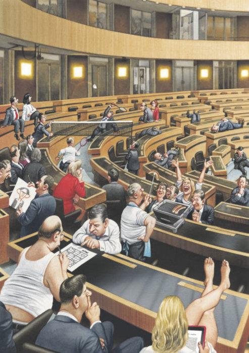 Парламент. Автор: Gerhard Haderer.