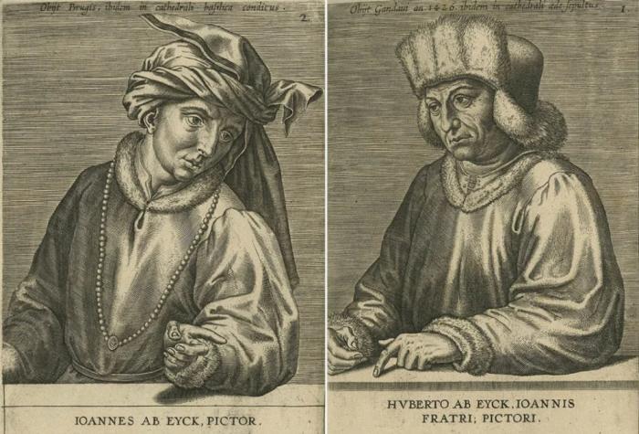 Слева направо: Портрет Яна ван Эйка. \ Портрет Хуберта ван Эйка. \ Фото: google.com.