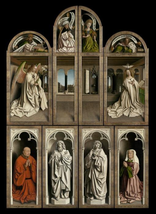 Гентский алтарь (закрытые створки), Ян ван Эйк, 1432 год. \ Фото: it.sputniknews.com.