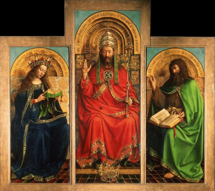 Деталь: Портреты жертвователей, Гентский алтарь (открыт), Ян ван Эйк, 1432 год. \ Фото: blogspot.com.