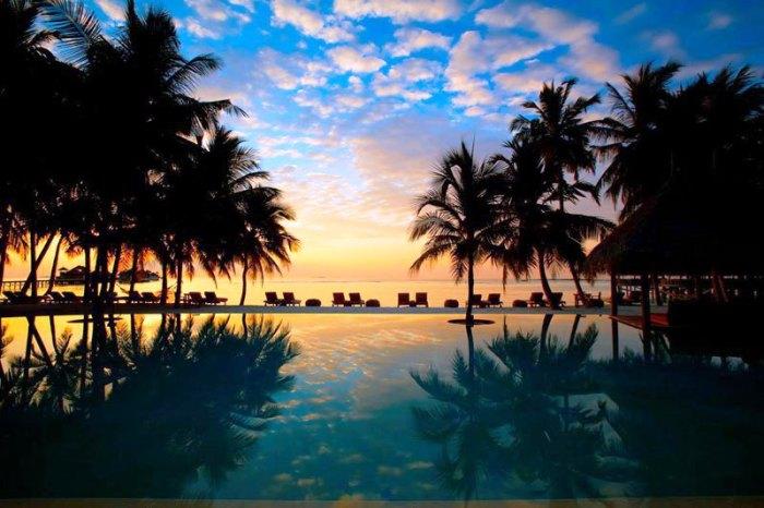 Гили Ланкафуши на Мальдивах: отель с высоты птичьего полёта.