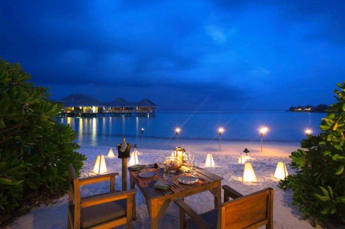 Гили Ланкафуши на Мальдивах: к романическому ужину готовы.