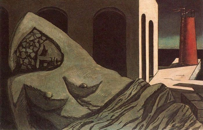 Ариадна, молчаливая статуя, 1913 год. Автор: Giorgio de Chirico.