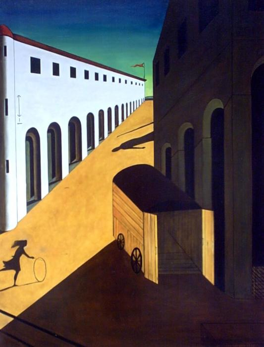 Тайна и меланхолия улицы, 1914 год. Автор: Giorgio de Chirico.