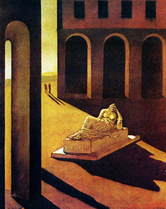 Пьяцца д'Италия: Меланхолия, 1912  год. Автор: Giorgio de Chirico.