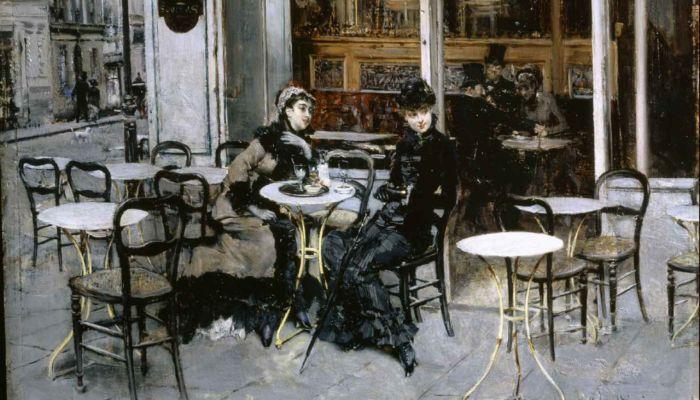 Разговор в кафе, 1879 год. Автор: Giovanni Boldini.