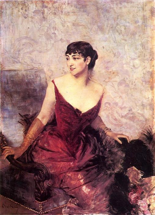 Графиня де Расти, сидящая в кресле. Автор: Giovanni Boldini.