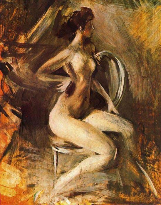 Обнажённая. Автор: Giovanni Boldini.
