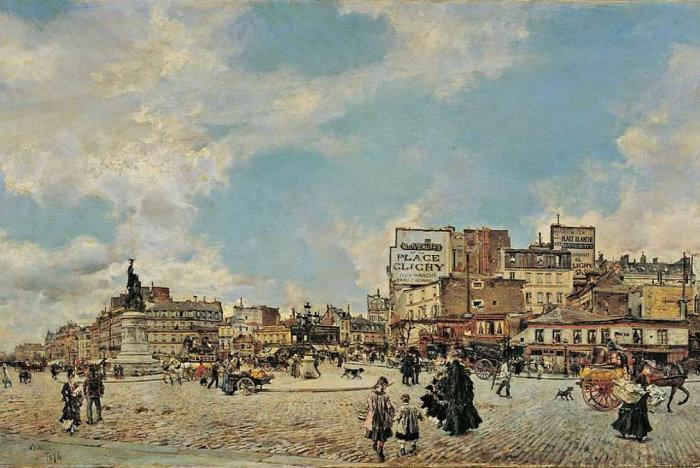 Площадь Клиши, 1874 год. Автор: Giovanni Boldini.
