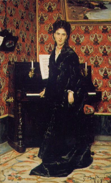 Портрет Мари Домеган, 1869 год. Автор: Giovanni Boldini.