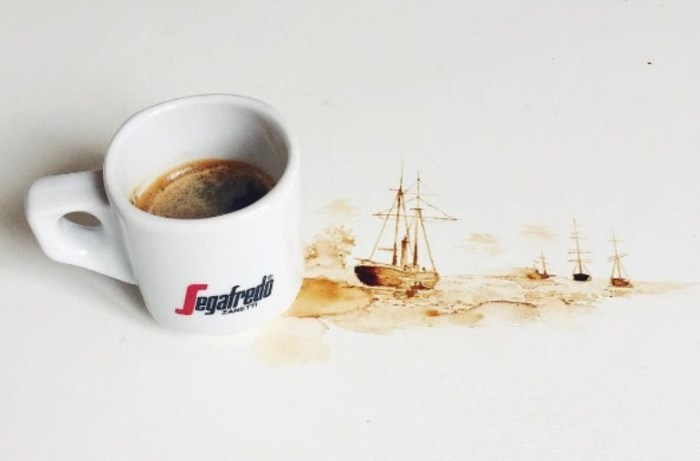 Кофейные корабли. Автор Giulia Bernardelli.