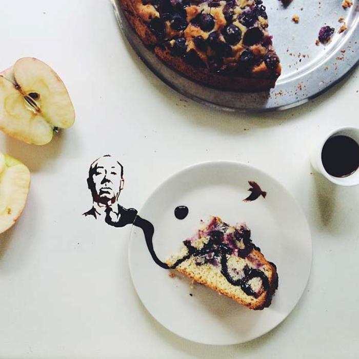Креативный завтрак. Автор Giulia Bernardelli.