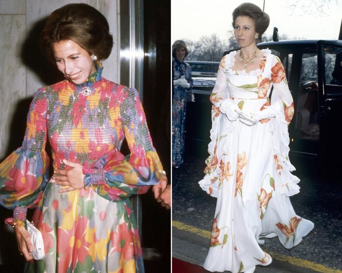 Слева: Принцесса Анна, август 1973 год. \ Справа: Принцесса Анна, 1978 год. \ Фото: google.com.