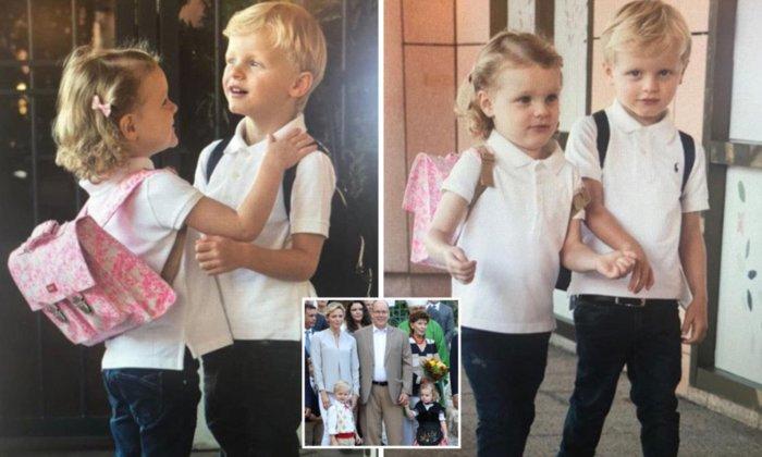 Близнецы принц Жак и принцесса Монако Габриэлла. \ Фото: dailybraille.co.uk.