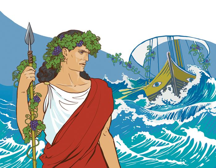 Миф о Дионисе и морских разбойниках. \ Фото: behance.net.