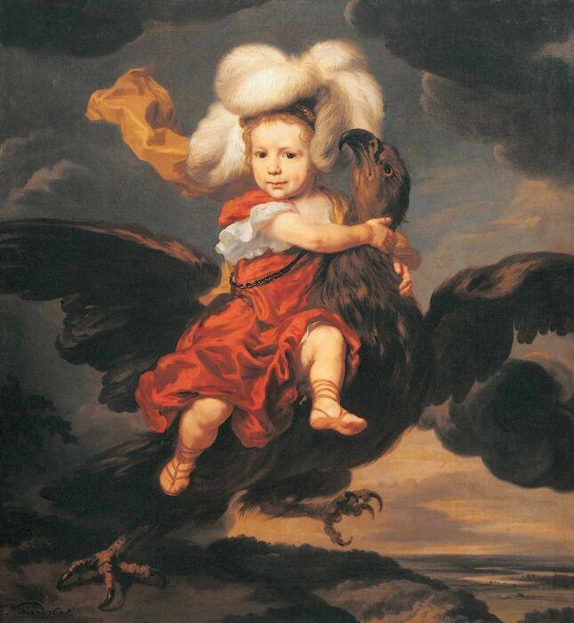 Похищение Ганимеда, Николас Герритс Мас, 1678 год. \ Фото: livejournal.com.