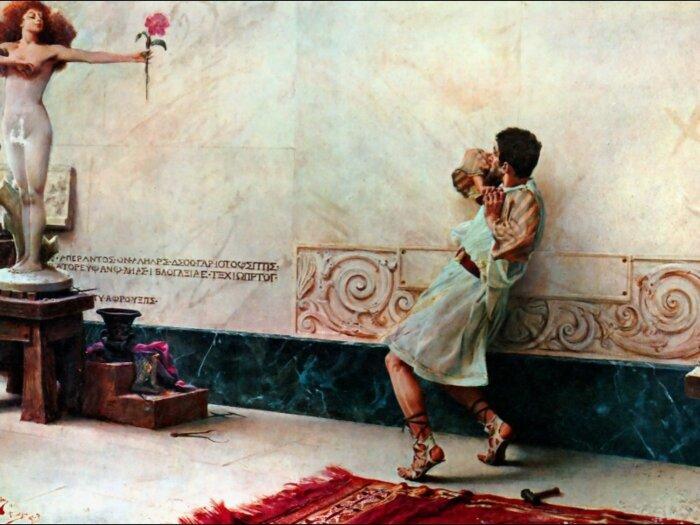 Пигмалион и Галатея. \ Фото: 1st-art-gallery.com.