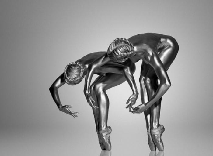 Грациозные живые статуи. Автор работ: Гвидо Арджентини (Guido Argentini).