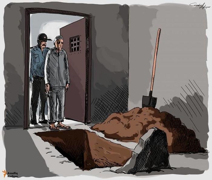 Политические заключённые. Автор: Gunduz Agayev.