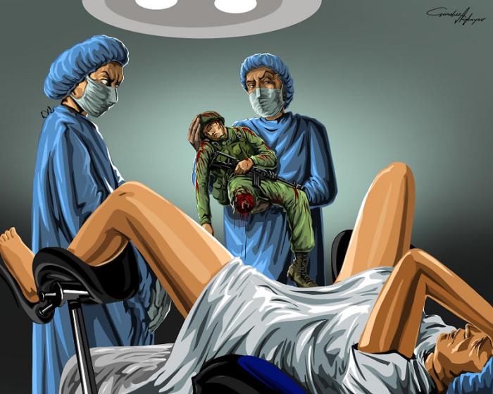 Войну порождает человек. Автор: Gunduz Agayev.