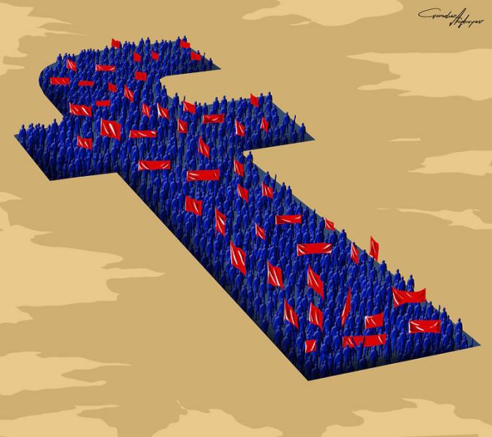 Мир нельзя изменить, ставя лайки в социальных сетях. Автор: Gunduz Agayev.