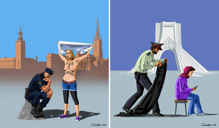 «Полицейские разных стран мира». Автор: Gunduz Agayev.