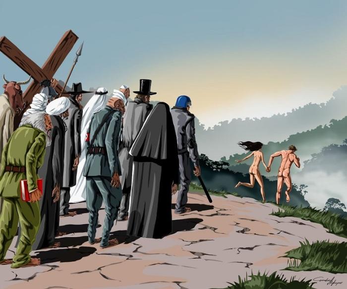 Попытка избежать религиозных догм. Автор: Gunduz Agayev.