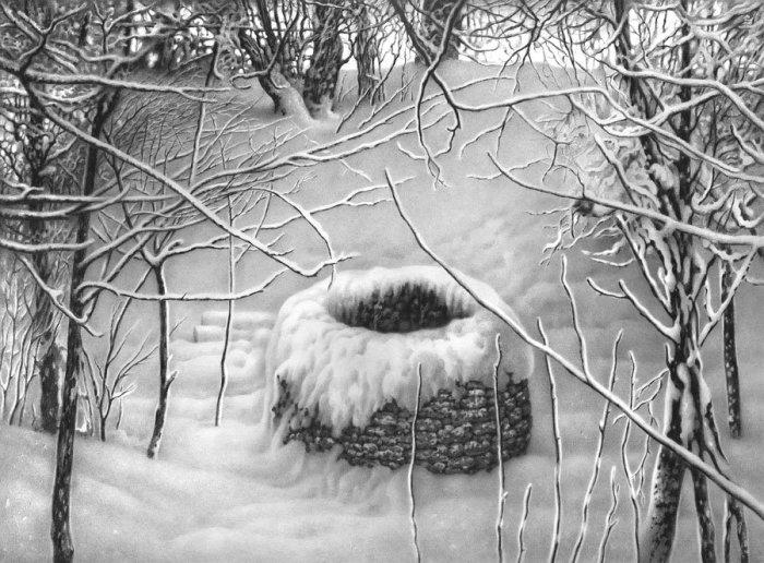 Имеретинская зима. Лист 25. Автор: Гурам Доленджашвили.