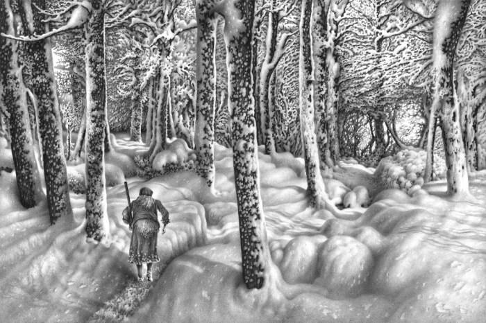Имеретинская зима. Село Нагареви. Лист 11. Автор: Гурам Доленджашвили.