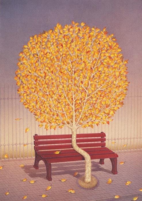 Осень. Автор: Гурбуз Доган Эксиоглу (Gurbuz Dogan Eksioglu).
