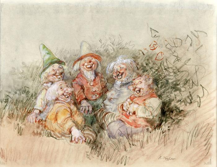 Ох, уж эти гномики! Автор: Gustav Robert Hogfeldt.