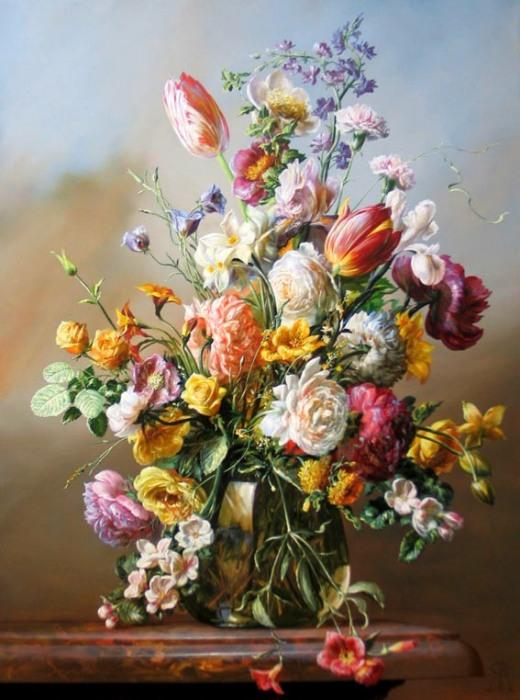 Реалистичные цветочные натюрморты, которые окутывают ароматом и согревают душу