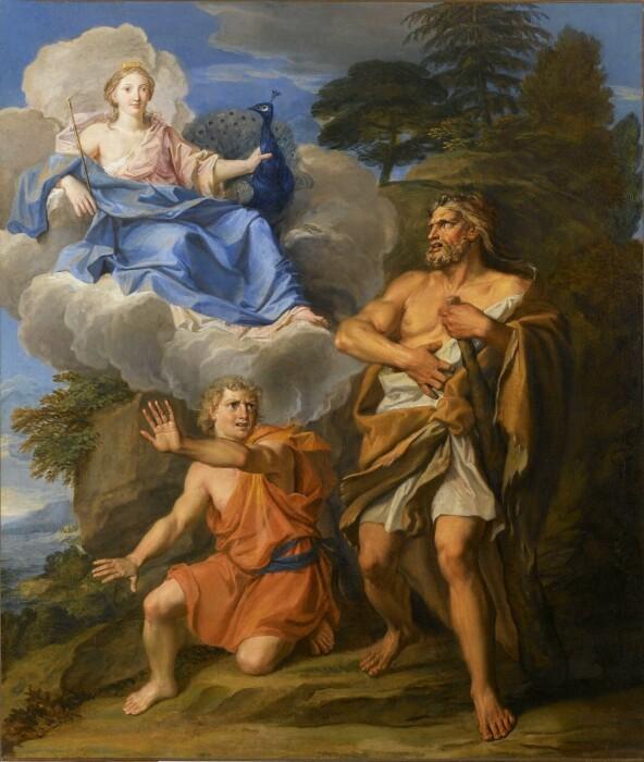Гера и Геркулес, Ноэль Куапель, 1699 год. \ Фото: ja.m.wikipedia.org.