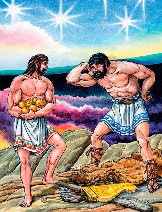 Геракл и золотые яблоки. \ Фото: google.com.