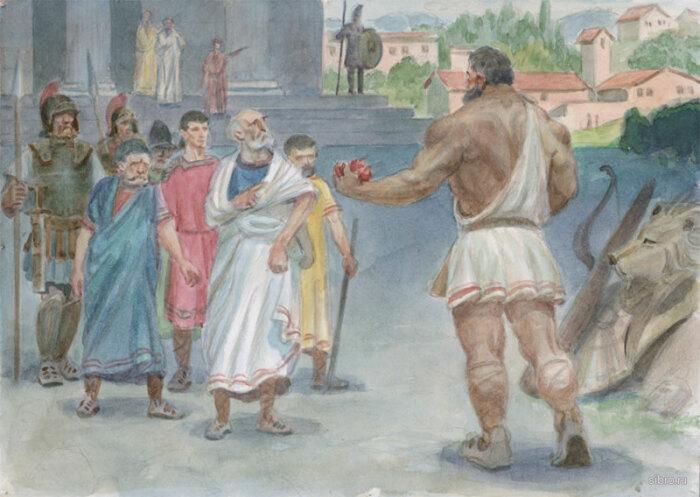 Геракл и  Эврисфей,  М.П. Чевалков, 2000 год. \ Фото: sibro.ru.