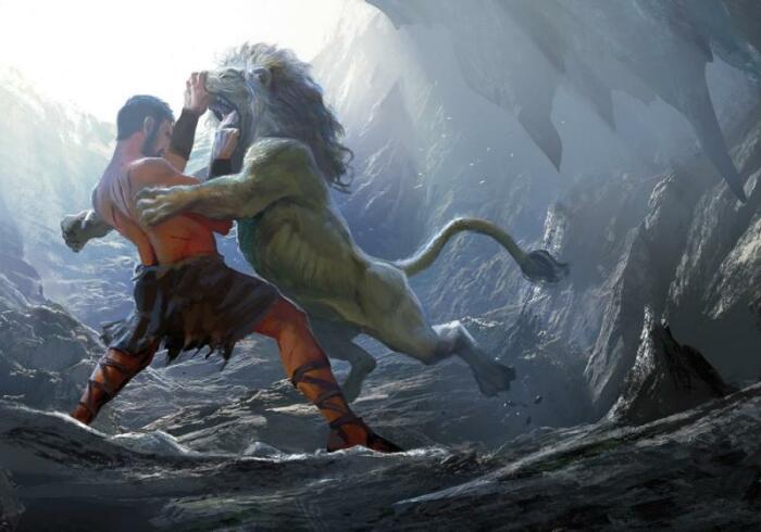 Убийство немейского льва. \ Фото: google.com.