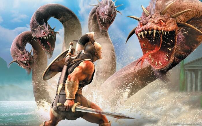 Геракл и лернейская гидра. \ Фото: wallpaperbetter.com.