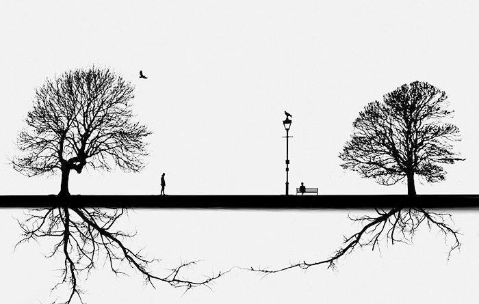 Одинокие фигуры. Автор: Hadi Malijani.