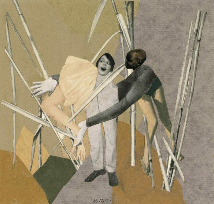 Любовь в кустах, Ханна Хёх, 1925 год. \ Фото: google.com.