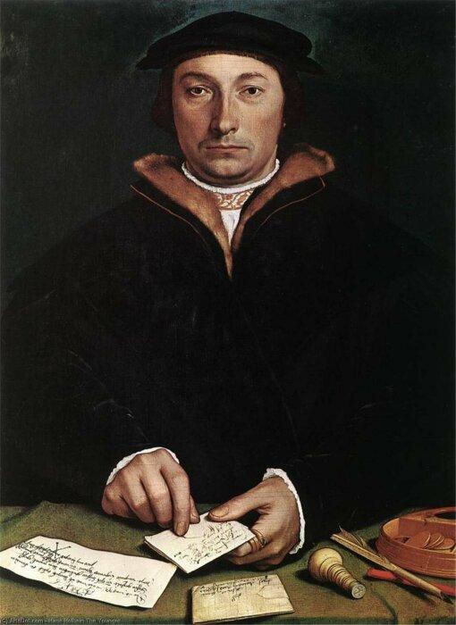 Портрет Ганса Гольбейна Младшего. \ Фото: paintingz.com.