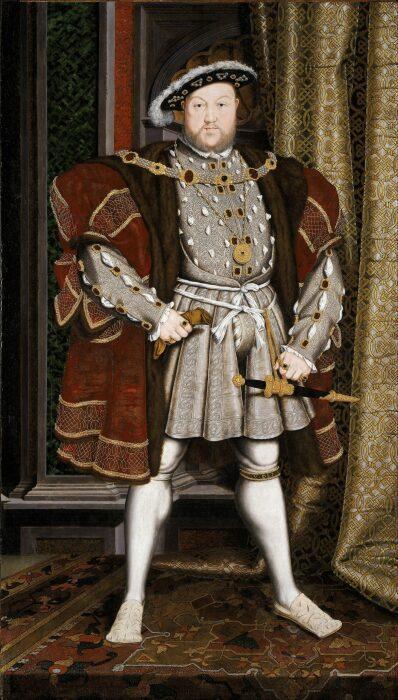 Портрет Генриха VIII кисти Ганса Гольбейна Младшего, 1536-1537 гг. \ Фото: rarebooks.commons.gc.cuny.edu.