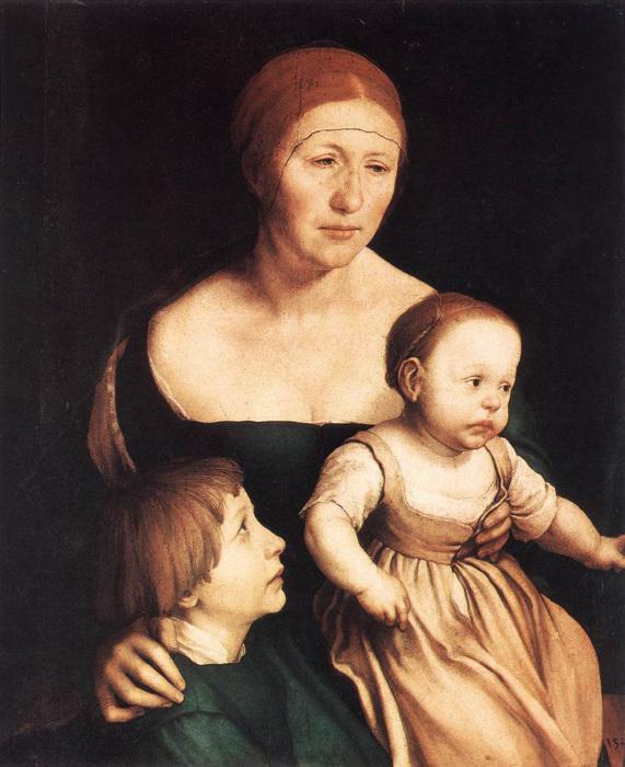 Семья художника, Ганс Гольбейн Младший, 1528 год. \ Фото: wordpress.com.