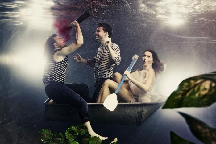 Трое в лодке. Автор: Harry Fayt.