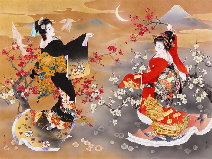 Танец журавлей. Автор: Haruyo Morita.
