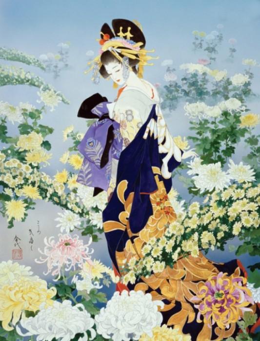 Куртизанка-ойран (Эдо). Автор: Haruyo Morita.