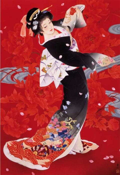 Дама эпохи Хейан. Автор: Haruyo Morita.