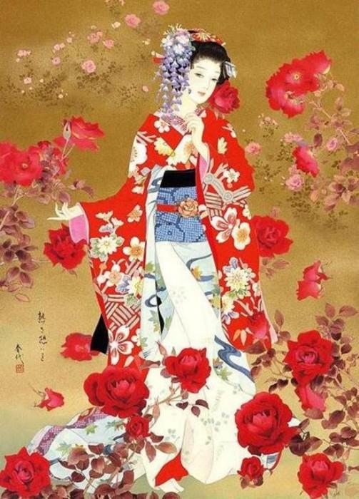Юная ученица гейши - майко. Автор: Haruyo Morita.