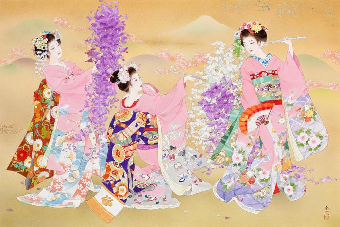 Цветочные мотивы. Автор: Haruyo Morita.