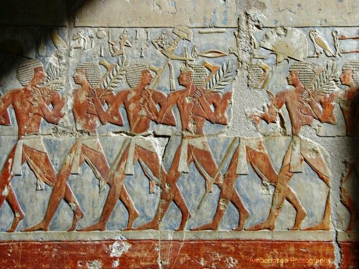 Египетские солдаты, отпарившиеся в экспедицию в Пунт. \ Фото: pinterest.com.