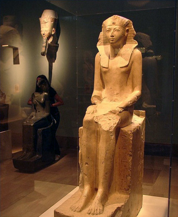 Женщина-фараон Хатшепсут. \ Фото: wordpress.com.